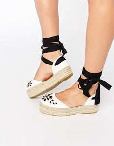 Alpargatas! Carvela Leather Embellished Espadrille Summer's IT Shoe @ acheekylifestyle.com by Val Banderman