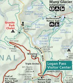 Granite Park Chalet....bummer, it's full, but good info on hikes.