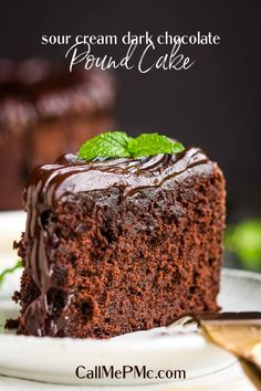 Buttery, dense yet tender and moist, Sour Cream dark chocolate pound cake is quick and easy to make with simple ingredients. #recipe #cake #poundcake #homemade #fromscratch #poundcakepaula #Southern #dessert #moist #easy #chocolate #darkchocolate Chocolate Pound Cake, Chocolate Flavors, Chocolate Desserts, Dense Chocolate Cake Recipe, Sour Cream Chocolate Cake, Fudgy Brownie Recipe, Brownie Recipes, Pound Cake Recipes, Pound Cakes
