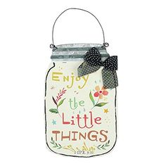 Enjoy the Little Things Floral Mason Jar 75 Inch Metal Hanging Wall Sign >>> Continue to the product at the image link. (This is an affiliate link and I receive a commission for the sales)