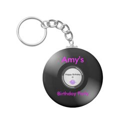 MoonDreams Music Record Button Keychain by #MoonDreamsMusic #ButtonKeychain #VinylRecord #MusicTheme #PartyFavor