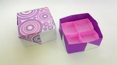 Origami  fancy box / พับกระดาษ รูปกล่องสีสวย