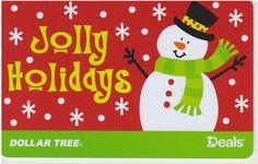 Dollar Tree Deals Snowman Snowflakes Jolly Holidays 2015 Gift Card ...