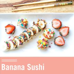 Banana Sushi is an awesome snack idea. All you'll need is bananas, a spread, and some toppings to create these rolls. This combo kid activity and food art is fun to make and healthy for them to eat.