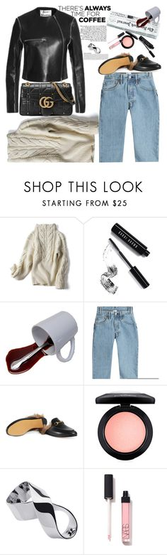 """""""Never trust anyone who doesn't drink coffee"""" by naki14 ❤ liked on Polyvore featuring Bobbi Brown Cosmetics, Vetements, Gucci, MAC Cosmetics, Jennifer Fisher, casualstyle, CoffeeDate, enjoycoffee, firstcoffee and trendycasual"""