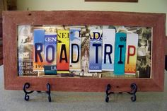 Recycled License Plates Craft Ides | License Plate 4-H Project