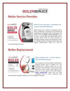 Boilers being very sensitive in all aspects such as being temperature monitored and professional management requirement, they need proper and timely servicing.