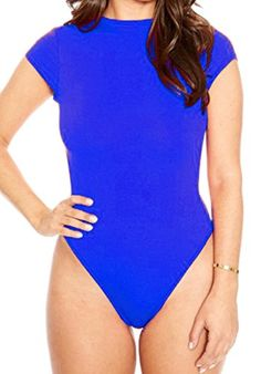 Yayun Yayu Womens Casual Short Sleeve Bodycon Leotard Jumpsuits Rompers