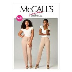McCall's Pattern M6901 Womens' Pants Trousers Women, Pants For Women, Mccalls Sewing Patterns, Crafty, Stuff To Buy, Kids, Young Children, Boys, Children