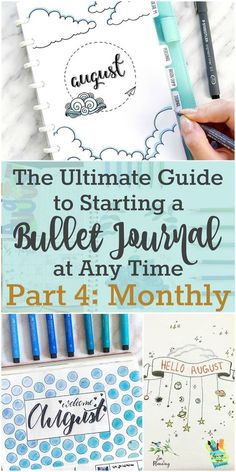 Learn All About the Monthly in Part 4 of My Series: The Ultimate Guide to Starting a Bullet Journal At Any Time | Zen of Planning