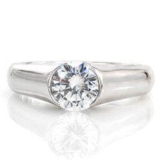 Luna - Knox Jewelers - Minneapolis Minnesota - Contemporary Engagement Rings - Half Bezel, Low Setting