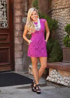 Modern Vintage Boutique - Summer Bridal Dress Magenta, $46.00 (http://www.modernvintageboutique.com/summer-bridal-dress-magenta.html)