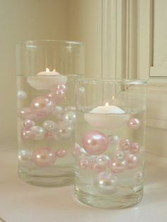 Amazon.com: 80 Jumbo & Assorted Sizes All Light Pink Pearls/Baby Pink Pearls Value Pack Vase Fillers - The Transparent Water Gels to float the Pearls are sold separately......: Home & Kitchen