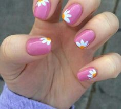 Descubre las uas de la prxima temporada daisy flower with pink nails prinsesfo Gallery