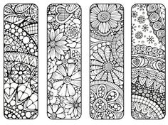 Bookmarks to Print and Color Bookmark by LittleShopTreasures Davlin Publishing #adultcoloring: