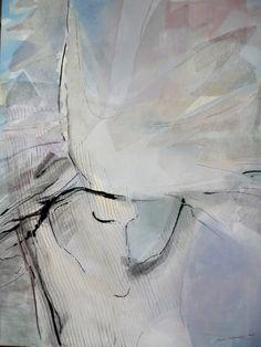 Uwolnienie II (ink, acrylic, fabric) 75/100