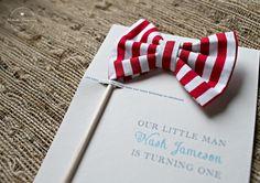 Boy Birthday Invite | Bow tie | The Snappy Sapling via Etsy.