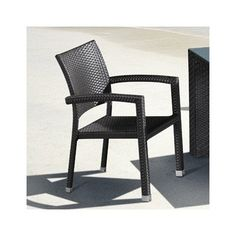 """Boracay Chair. Product Cover (Upholstery Material or Type of Metal): Synthetic Weave. Product Finish (Structure Materiel or Type of Wood): Aluminum Frame. Product Dimensions: 23.6""""Dx22.8""""Wx34.3""""H. Seat Dimensions: 19""""Dx16.7""""Wx16.1""""H. Color: Espresso."""