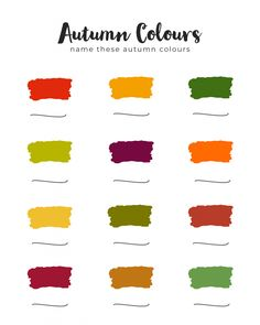 Autumn Colours – Free Worksheet / Journal Page