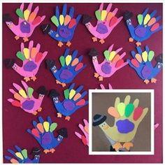 handprin turkey craft idea