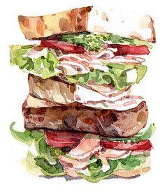 Tall sandwich