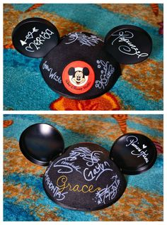 """What a wonderful memory for your Disney vacation! """"Disney Autograph Hat"""" A white oil paint Sharpie on the black felt hat worked great. Disney World Tips And Tricks, Disney Tips, Disney Fun, Disney Parks, Walt Disney, Disney Cruise, Disney Theme, Disney Family, Disney Stuff"""