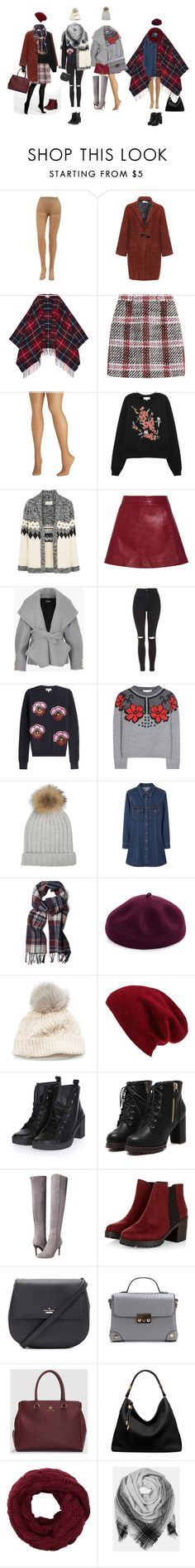 """cold autumn"" by cool-julija ❤ liked on Polyvore featuring OROBLU, Bohème, Claudie Pierlot, Carven, Avenue, The Great, Ganni, Balmain, Topshop and Kenzo"