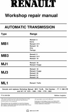 Renault diesel engine 852 j8s workshop service repair manual renault auto automatic gearbox repair manual mb1 mb3 mj1 mj3 ml1 fandeluxe Choice Image