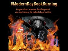 Modern Day Book Burning - Crrow777's Channel Has Been Taken Out