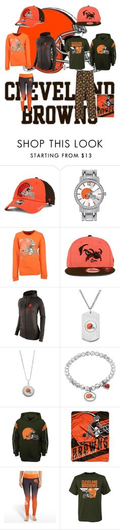 """""""Cleveland Browns"""" by jenabbyreid on Polyvore featuring '47 Brand, Game Time, 5th & Ocean, NIKE, The Northwest Company and Forever Collectibles"""