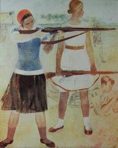 """2. Зернова Екатерина """"Вузовки на стрельбище"""" 1932 1932 Не сохранилась"""
