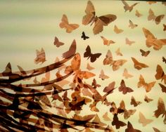 You Give Me Butterflies Art Print - Celluloidic Art™ Prints maintain the detail and imagery of the film negatives used in Glak Love's original art works, and are signed and numbered by artist Angelyn Pass.  - Glak Love