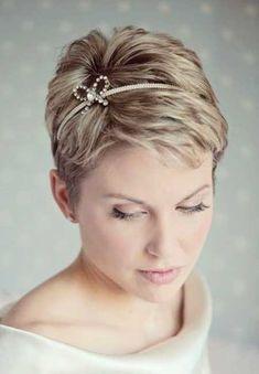 Short Hair Wedding Styles 2014 | http://www.short-haircut.com/short-hair-wedding-styles-2014.html