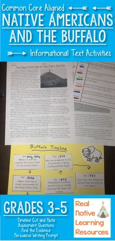 Sequencing and Timeline Activity - Plains Native Americans Social Studies Resources, Reading Resources, Reading Strategies, Classroom Resources, Reading Activities, Writing A Persuasive Essay, Reading Passages, Learning Centers, Timeline
