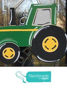 Tractor Door Decoration, Initial Door Hanger Wreath Substitute from The Branded Birch http://www.amazon.com/dp/B017GQ4W18/ref=hnd_sw_r_pi_dp_-sDBwb1DMJB0H #handmadeatamazon