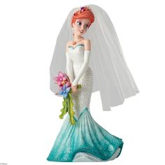Disney Showcase Ariel Wedding Figurine #DisneyShowcaseArielWeddingFigurine #HauteCouture4050707 #FineGiftsNottingham