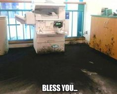 When a copier sneezes...