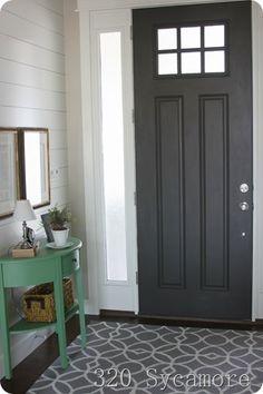dark grey internal doors
