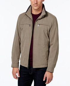 London Fog Litchfield Microfiber Jacket - Coats  amp  Jackets - Men - Macy s  Hipster Jackets 3aaa773b7