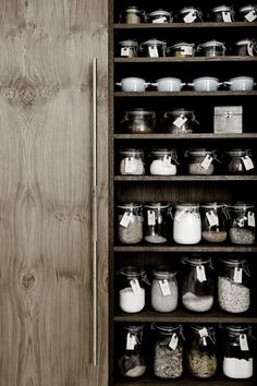 organized pantry - The beautiful home of Kim Dolva - via cocolapinedesign.com