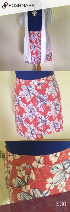 Tommy Bahama Linen Skirt Awesome red, white and blue skirt.  Above the knee.  Side pockets.  Blue leotard Capezio XL. Both or make offer for either one.  I have let the hem down on Skirt (love stitch  witchery).  There is an original hem line but I've never noticed it. Tommy Bahama Skirts