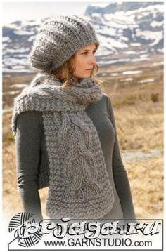 Вязание шапок и шарфов спицами от Drops