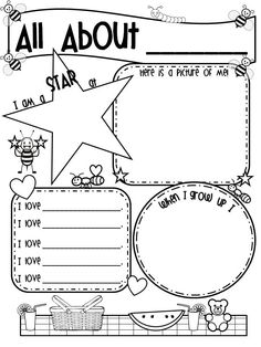 """""""All About Me"""" poster for Back to School!"""