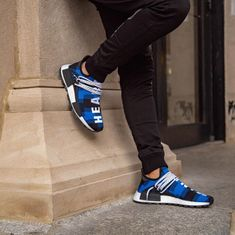The releasedate for the new BBC x adidas HU NMD got postponed. Stay up to date in our app to get informed when it drops Adidas Nmd, Adidas Sneakers, Billionaire Boys Club, Pharrell Williams, Hypebeast, Blue Plaid, Adidas Originals, Shoes Sandals, Kicks