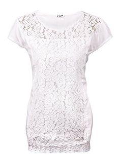 DAMEN BLUSE SOMMER HEMD TUNIKA KURZARM BAUMWOLLE T-SHIRT SPITZE OBERTEIL, Farbe:Weiß;Größe:3XL http://xxl.damenfashion.net/shop/damen-bluse-sommer-hemd-tunika-kurzarm-baumwolle-t-shirt-spitze-oberteil-farbeweissgroesse3xl/
