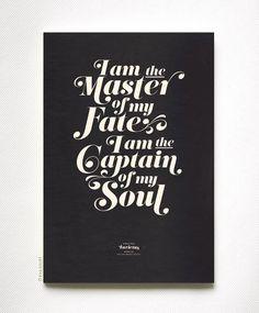 INVICTUS on black  typography art print  13 x 19 in by evajuliet, $39.00