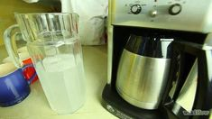 How to Clean a Coffee Maker. Coffee makers are convenient household appliances that can provide you with a fresh cup of java first thing in the morning. Drip Filter Coffee, Coffee Pot Cleaning, Nyc Coffee Shop, Percolator Coffee Maker, Expresso Coffee, Home Coffee Machines, Wholesale Coffee, 1 Gif, Coffee Company