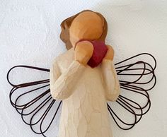 """Willow Tree Angel of the Heart 5"""" Figure Sculpture 2000 Susan Lordi Demadaco #ChristmasinJuly"""