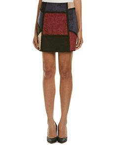 Romeo & Juliet Couture Womens Patchwork Mini Skirt, S by: Amazon @Amazon Color/pattern: wine combo,Approximately 15.5in from waist to hem,Measurement was taken from a size small and may vary slightly by size,Design details: faux suede patchwork design with decorative stitch trim,Center back zipper