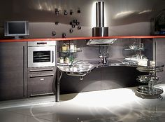 Modern Wheelchair accessible kitchen by Italian manufacturer. Perfect for small kitchen duties (e,g, dairy side of Kosher kitchen).